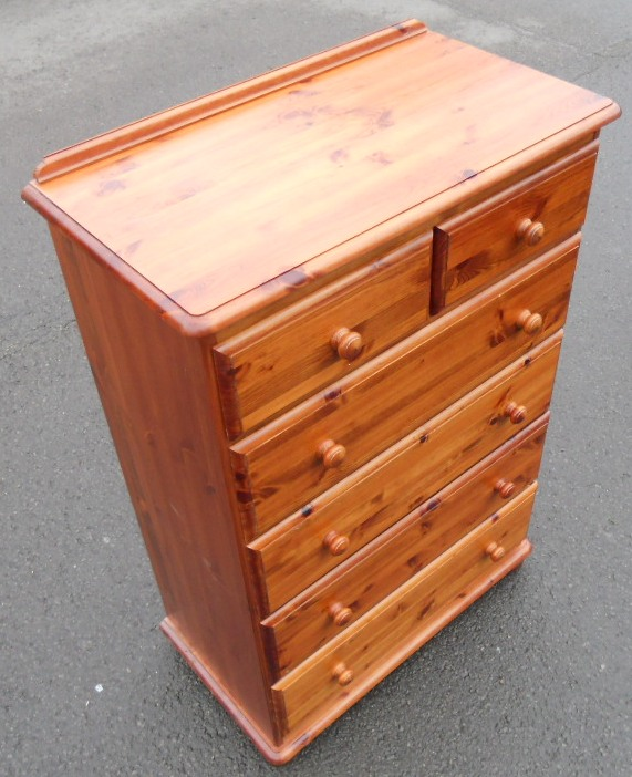 Tall Pine Chest Of Drawers Sold